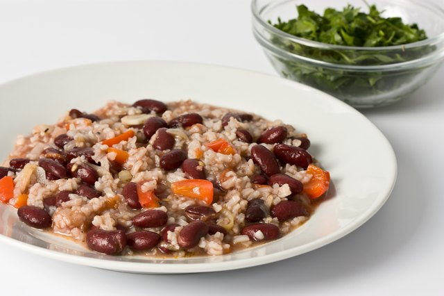 Risotto with beans.