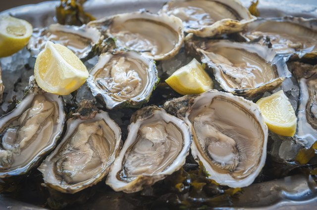 Oyster platter with lemon