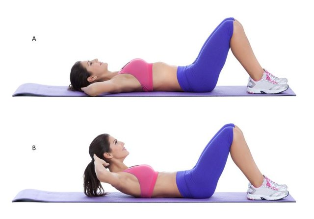 Partial sit-ups are sometimes called crunches.
