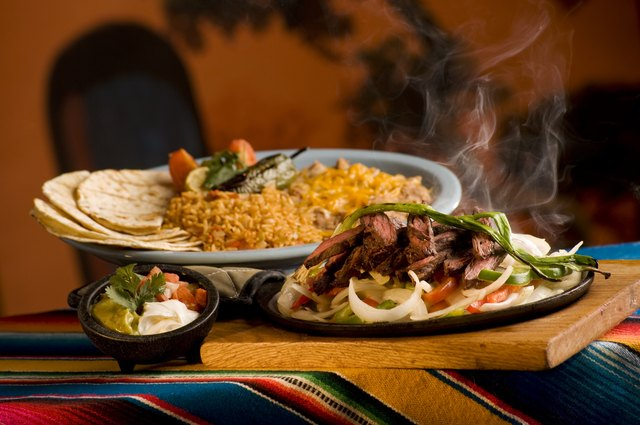 Restaurant fajitas can be loaded with fat and calories.