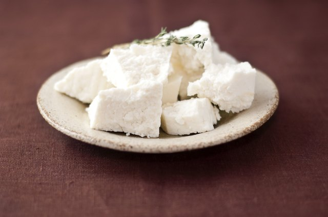 Cottage cheese with thyme.