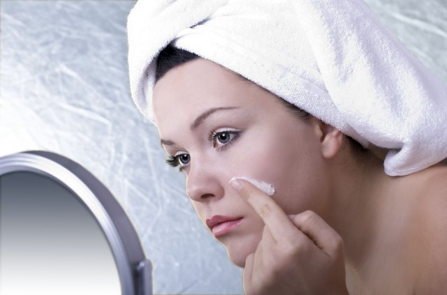 Use an acne treatment to absorb oil