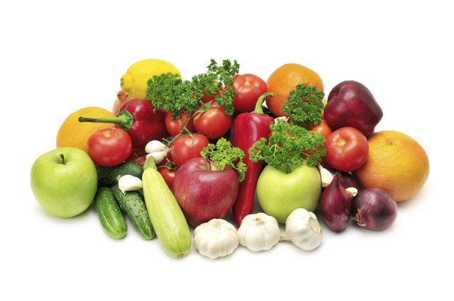 Fresh fruits and vegetables are a staple of this diet.