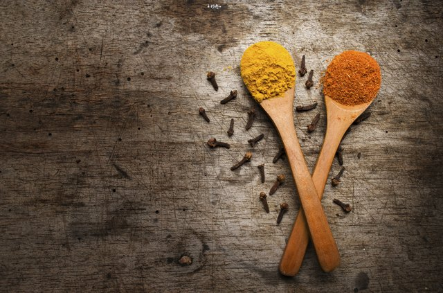 Turmeric and Cayenne powders