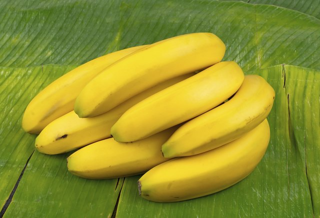 Bananas on leaf