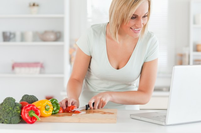 Search recipe books, magazines and online sources to find lean, healthy recipes.
