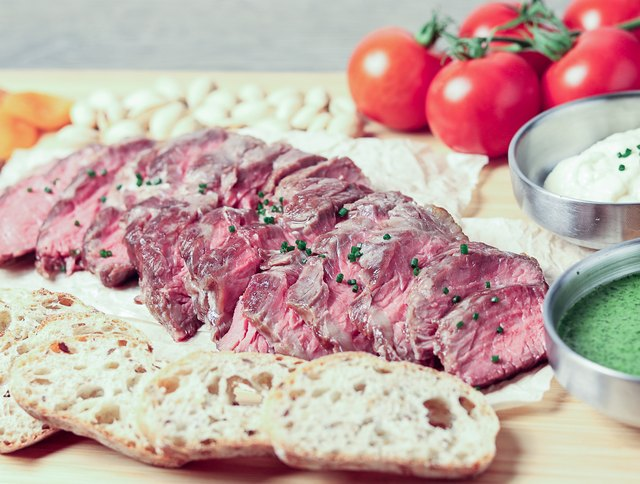 This steak appetizer platter can be made ahead for a party.