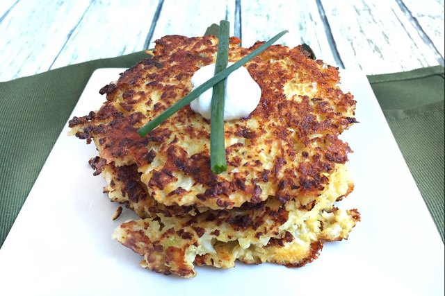 Cauliflower, carrot, turnips, Diakon radishes, zucchini, even spaghetti squash will all work as a potato substitute for latkes.