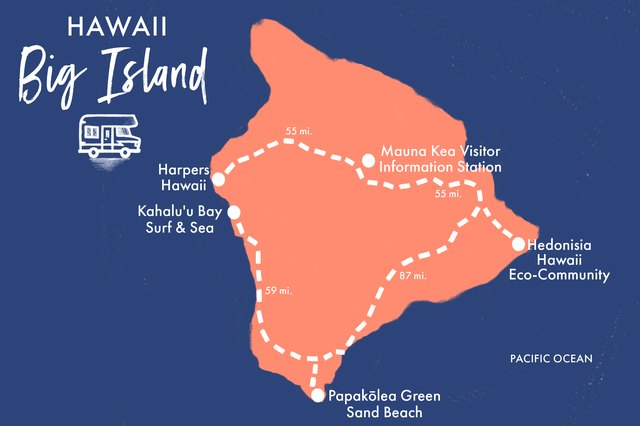 You'll surf and hike some of the big island's best spots on this RV road trip.