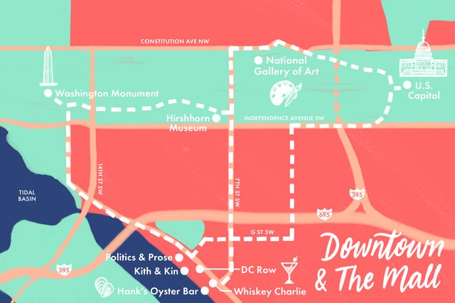 The Mall and Downtown map