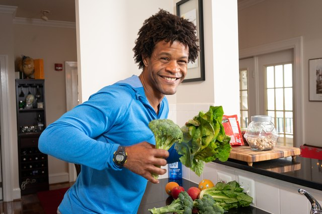 Errick eats healthy salads most days — and he loves broccoli!
