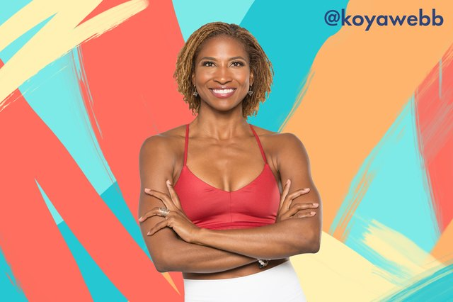 Koya Webb will be leading a yoga class to get everyone warmed up.