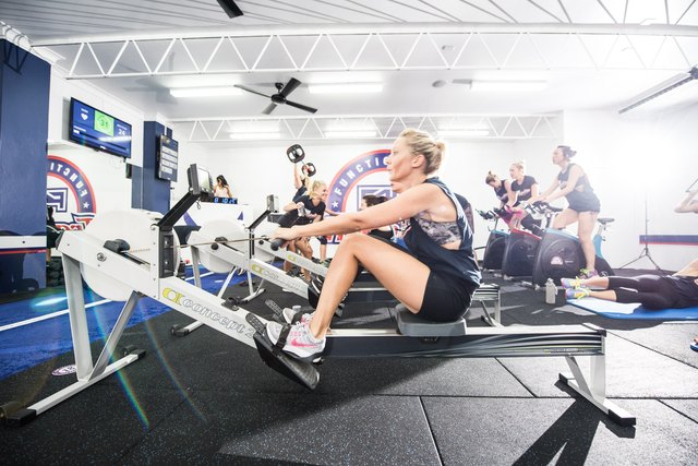 Keep your heart rate monitor on during an F45 workout to see just how many calories you burn.