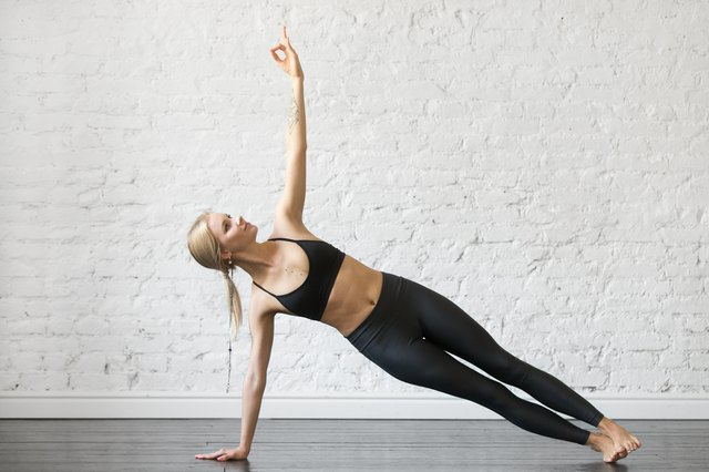Target your obliques with side plank pose.
