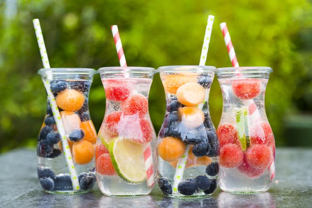 Make your own fruit-infused water to help you drink more throughout the day.