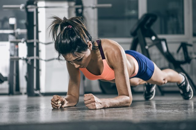 Planks work your core without putting a lot of strain on the injured leg.