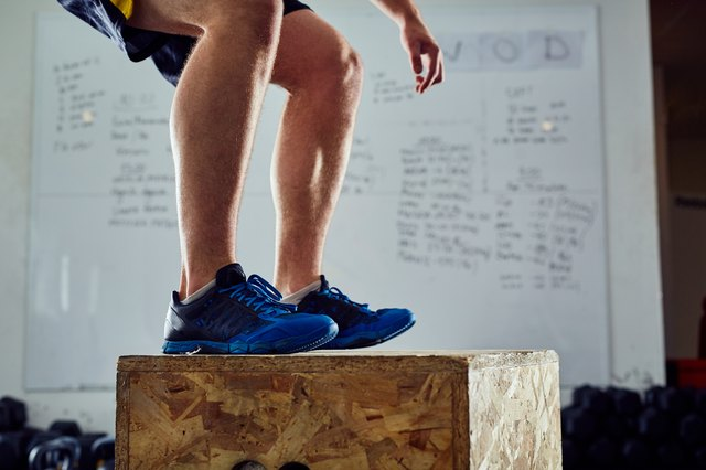 Land gently while doing a box jump.