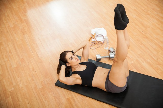 Leg lifts strengthen the lower abdominal muscles.