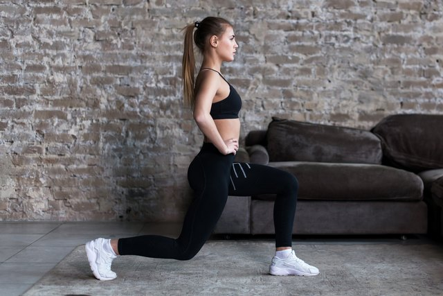 Incorporate lunges into your at-home workout.
