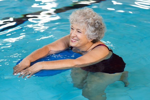 Aqua jogging is easier on your joints than regular jogging and helps build your leg muscles.