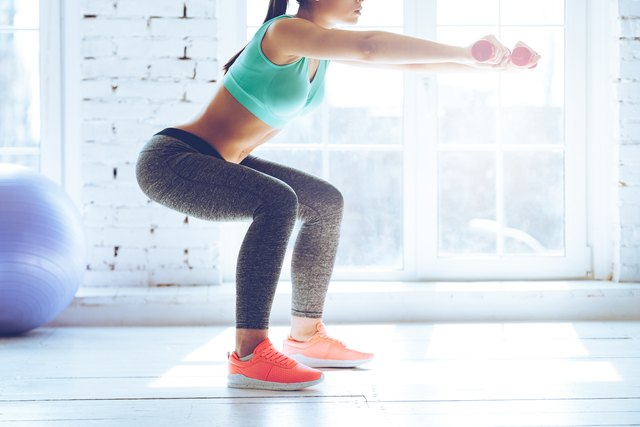Use proper form with squats to avoid knee injury.