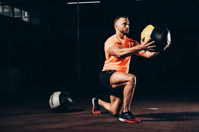 Heavy carries like medicine balls and kettlebells are an underutilized tool that should be in every skinny guy's training program.