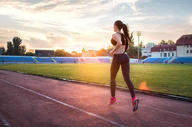 Running sprint intervals works your booty and waistline at the same time.