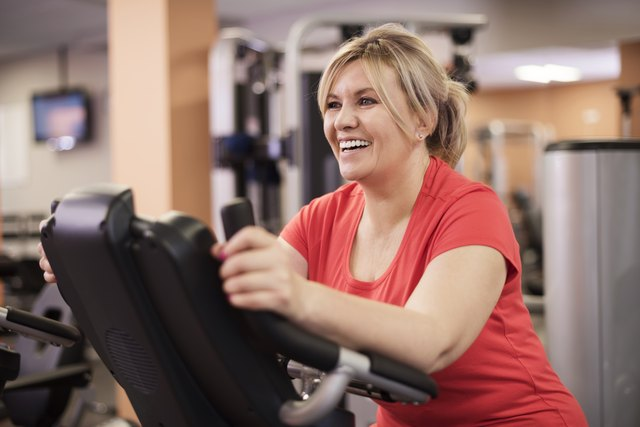 Use the exercise bike for a low-impact workout indoors.