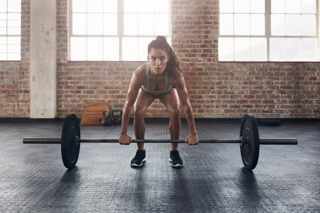 This is the starting position of a deadlift.