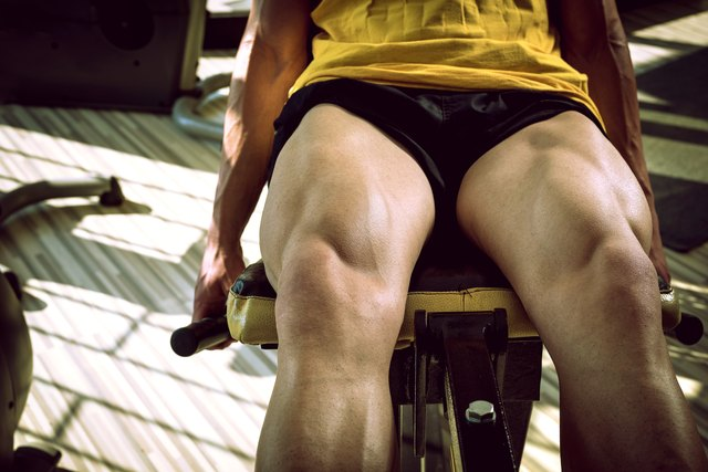 Leg extensions target the quads.