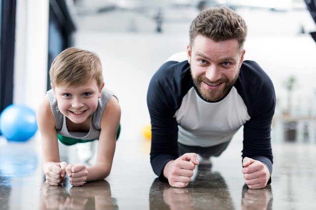 Exercising with your child is good for both of you.
