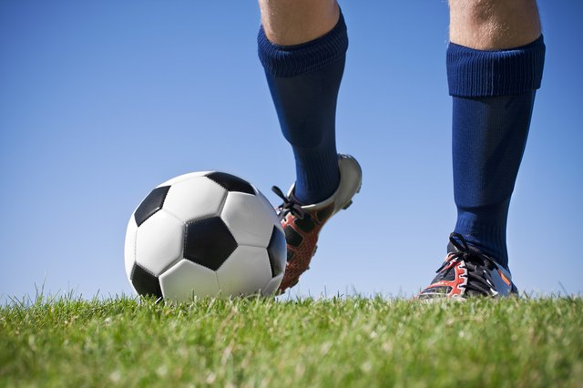 A strong kick in soccer could hurt your hamstrings, particularly if you haven't warmed up properly.