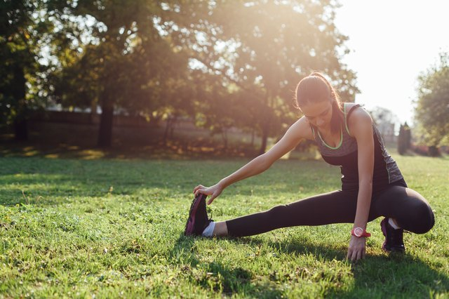 Your stretching routine should have a lot of variety for all of the different leg muscles.