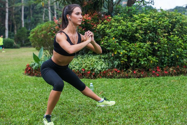 Side lunges challenge your outer thighs and hips.