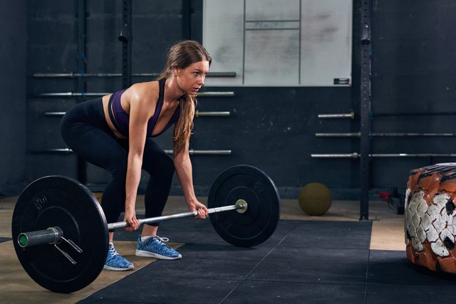 Deadlifts work the muscles around the butt dimple.