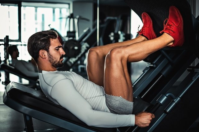Use the leg press machine to focus all of your effort on leg muscles.