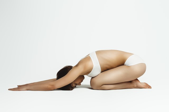 Child's pose helps alleviate the immediate discomfort of sciatica.
