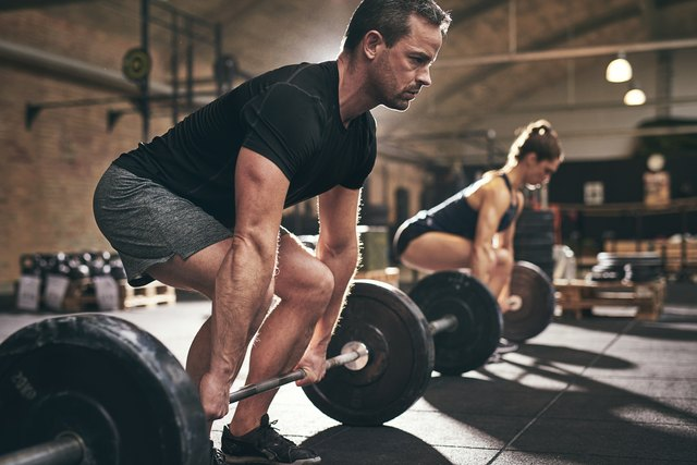 The deadlift works your leg and back muscles.