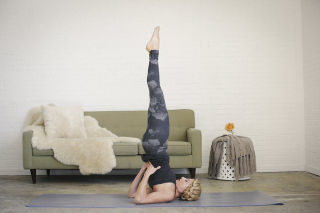 Inversions like shoulderstand or headstand instantly get you grounded.