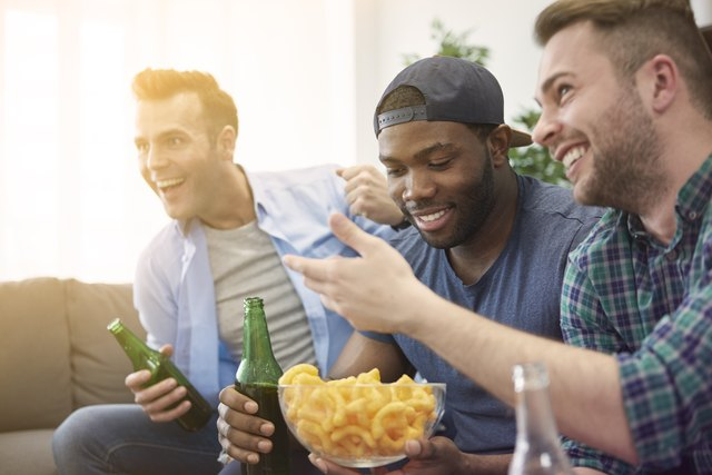 When men had people cheering for them they ate a surprising four times as much as they normally would.