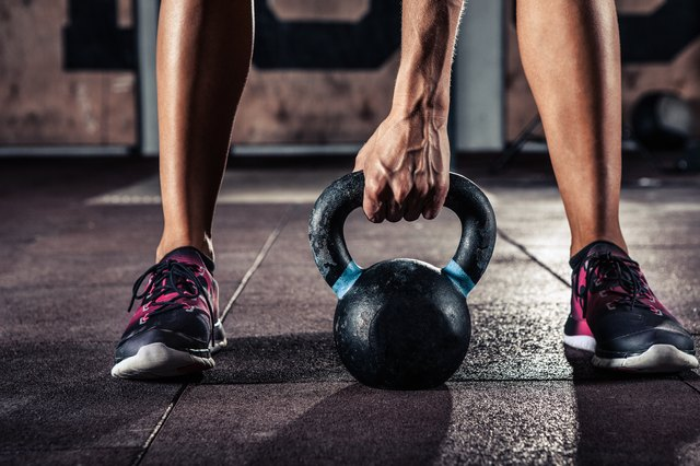 Try out kettlebells for strength training.