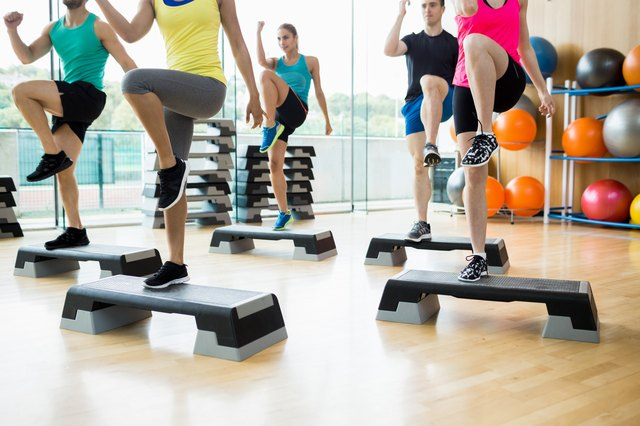 You'll need your own aerobic stepper to go with these DVDs.