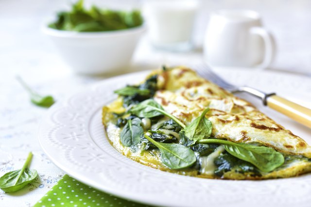 Start your morning off with a delicious spinach omelet for a good dose of B vitamins.