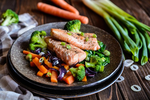 Salmon is a good, lean dinner option.