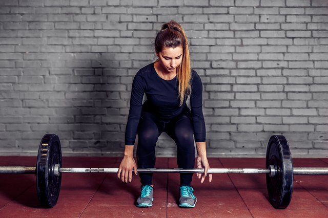 Deadlifts are one great exercise for developing leg stamina.