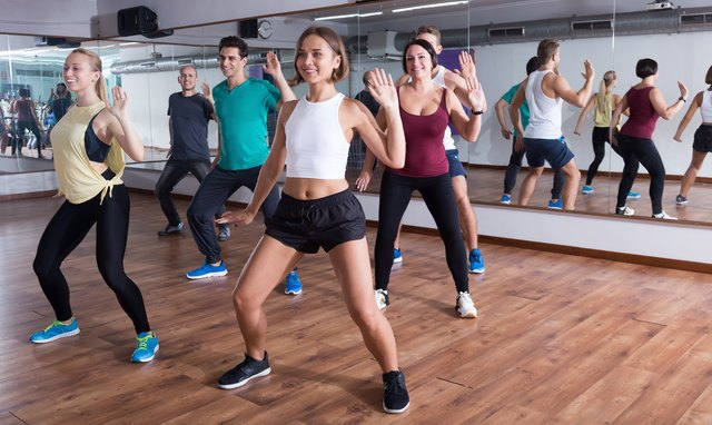 Get your heart rate up during a Zumba workout.