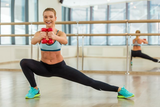 Side lunges work your inner thighs.
