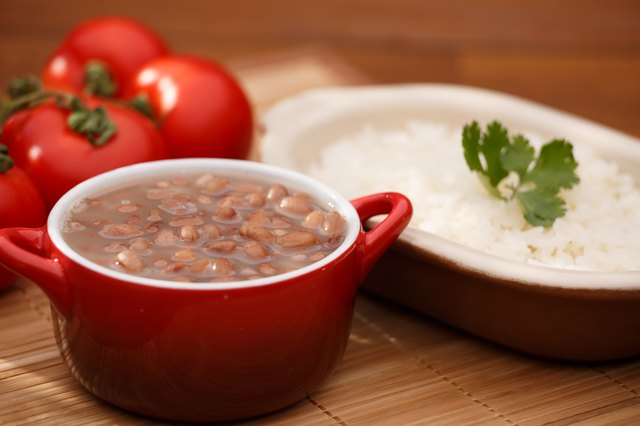 Rice and beans make for a quality combination of protein and carbohydrates.