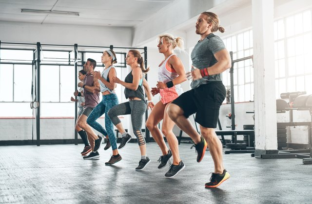 A fitness class is a great way to learn new skills and meet new people.