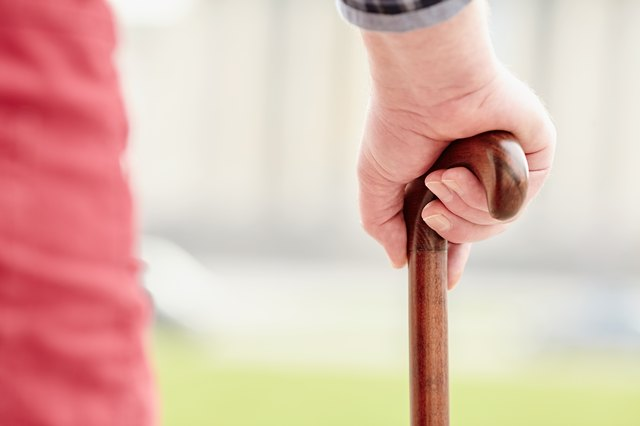 A cane or dowel can be used to help improve your shoulder's range of motion.